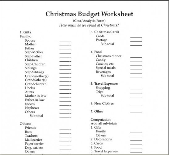 7 Free Printable Budget Worksheets - simple budget sheets