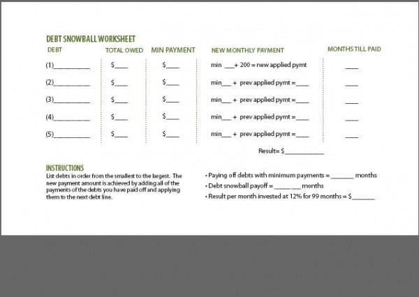 Household Budget Worksheet Dave Ramsey