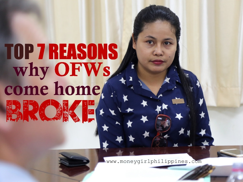 Money Girl Philippines - Top 7 Reasons Why OFWs Come Home Broke