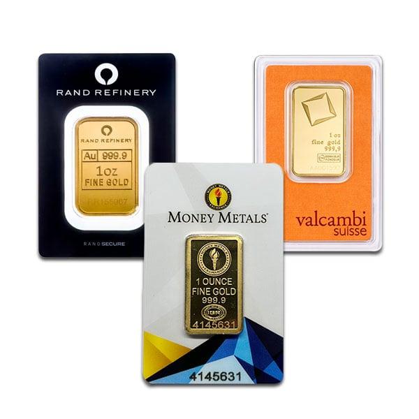 1 Oz Gold Bar for Sale Buy 1 Oz Gold Bars Money Metals®