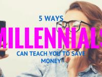 millennials save money