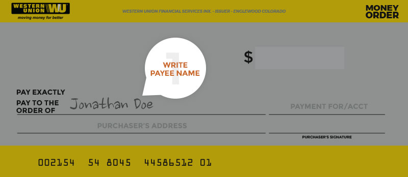 How to fill out a money order Money Services