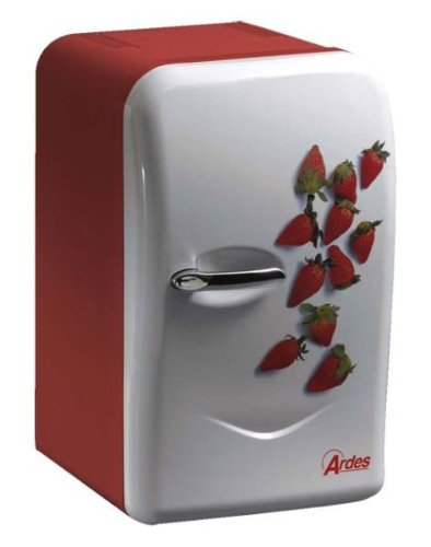 mini frigo 17 litres 39 ardes 39 12 220 volt design 39 fraises 39. Black Bedroom Furniture Sets. Home Design Ideas