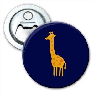 Girafe au Long cou tacheté Jaune Décapsuleur Magnet Frigo