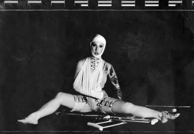 Medical Leathers, Model: Missy Macabre, Photographer: Izaskun Gonzalez