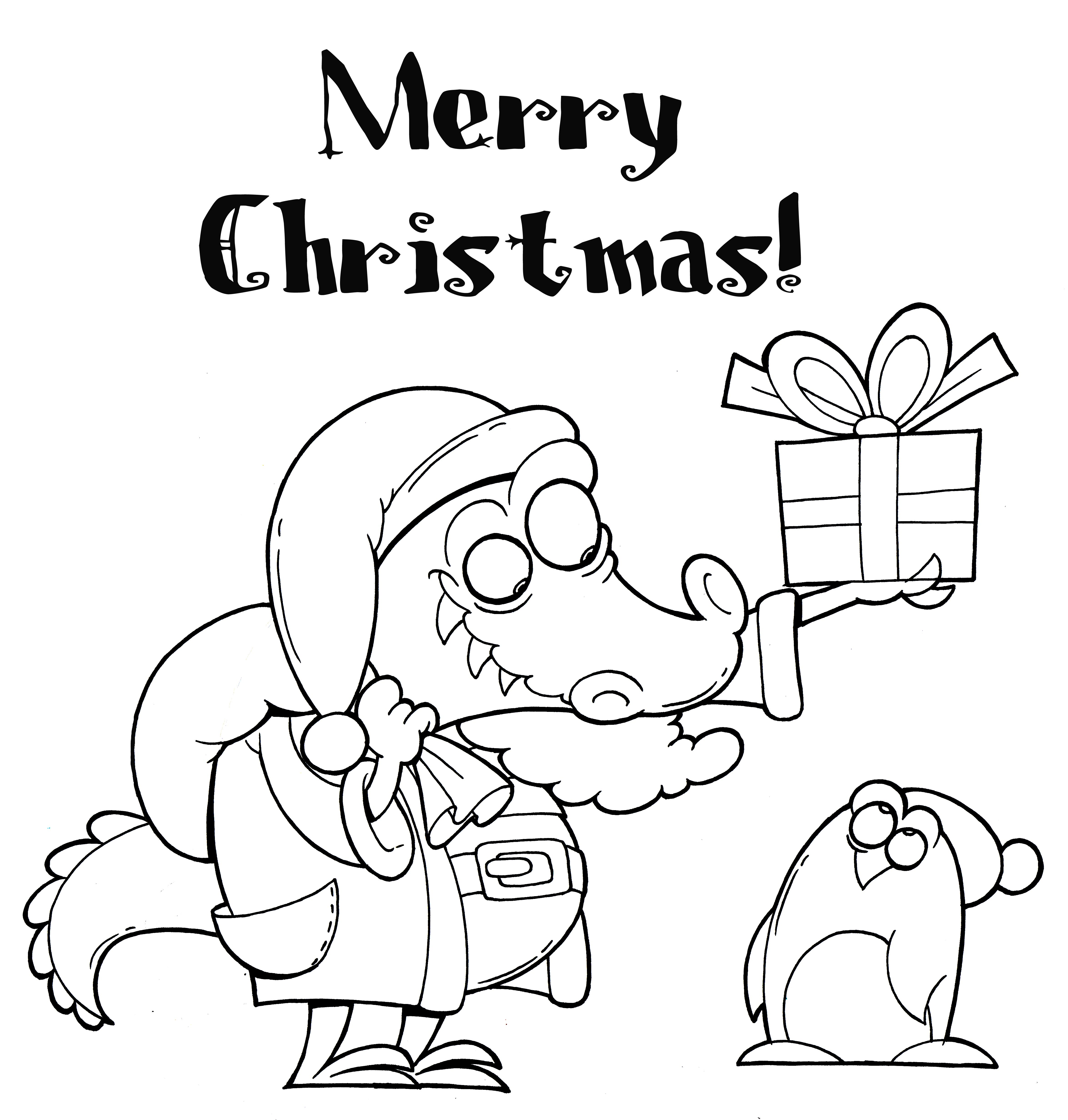 a coloring page that says merry christmas
