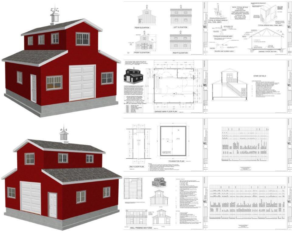 Monitor Barn Plans and Blueprints - Copy Barn Blueprint 3