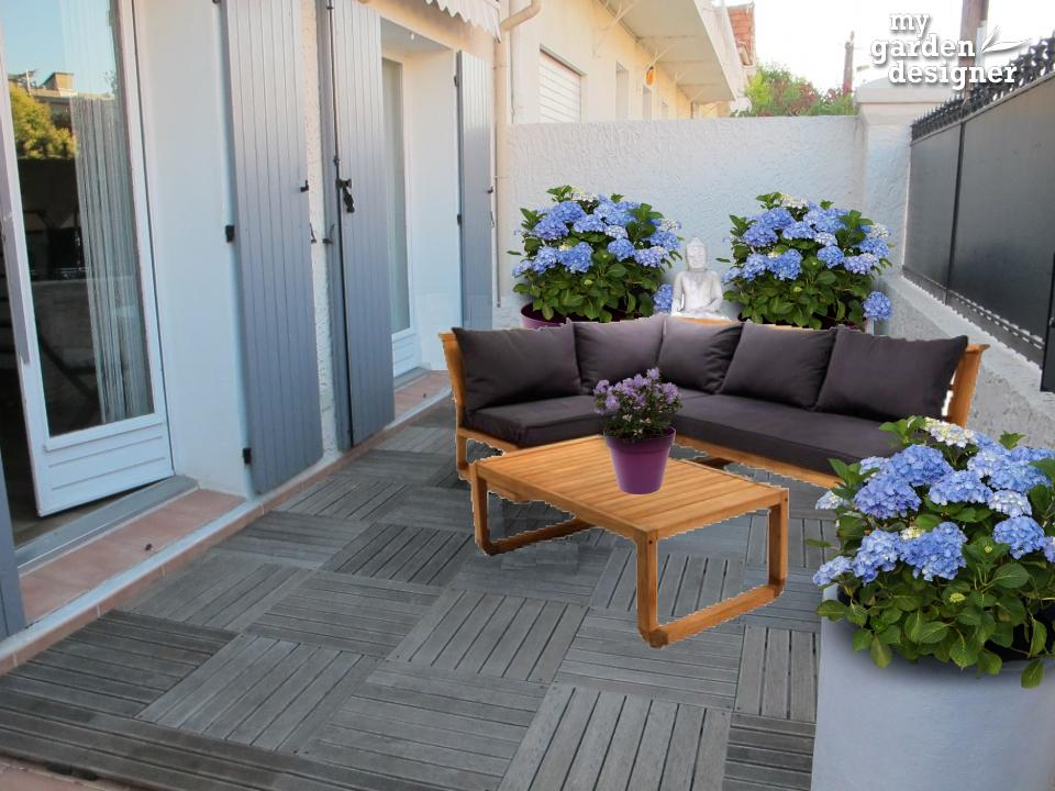 Am nager une terrasse bretonne et zen monjardin for Amenagement zen
