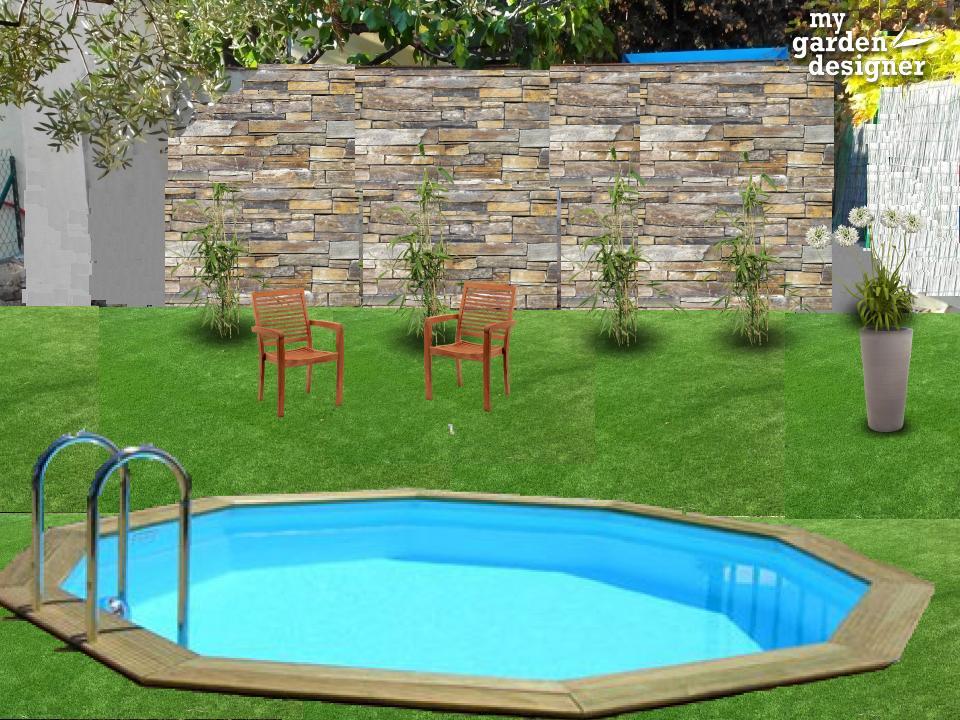 Un jardin sans entretien avec piscine   monjardin-materrasse.com