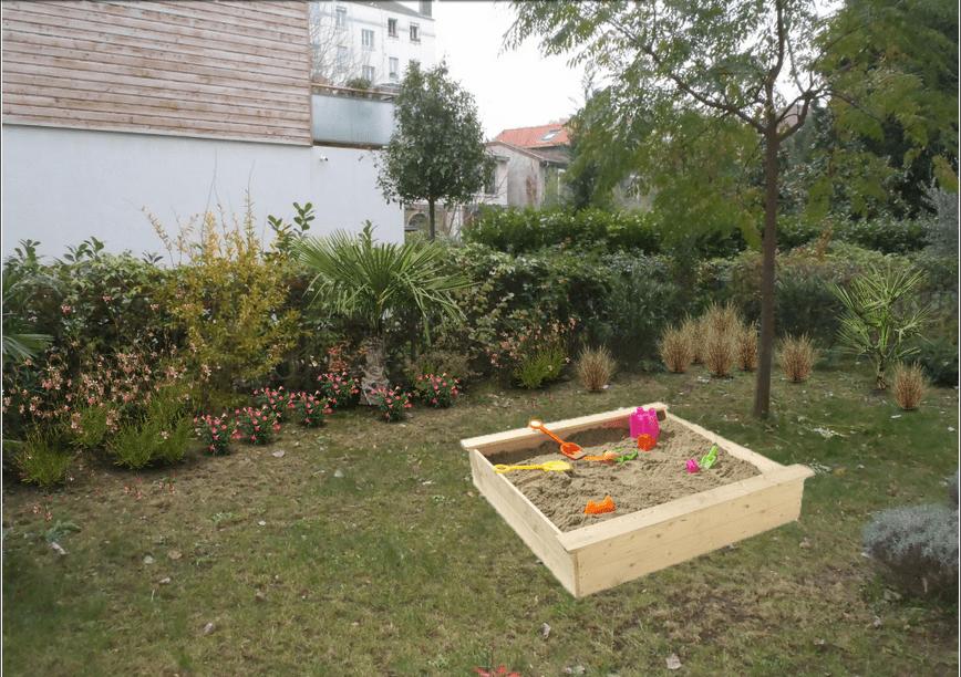 am nagement paysager du jour un rez de jardin lyonnais. Black Bedroom Furniture Sets. Home Design Ideas