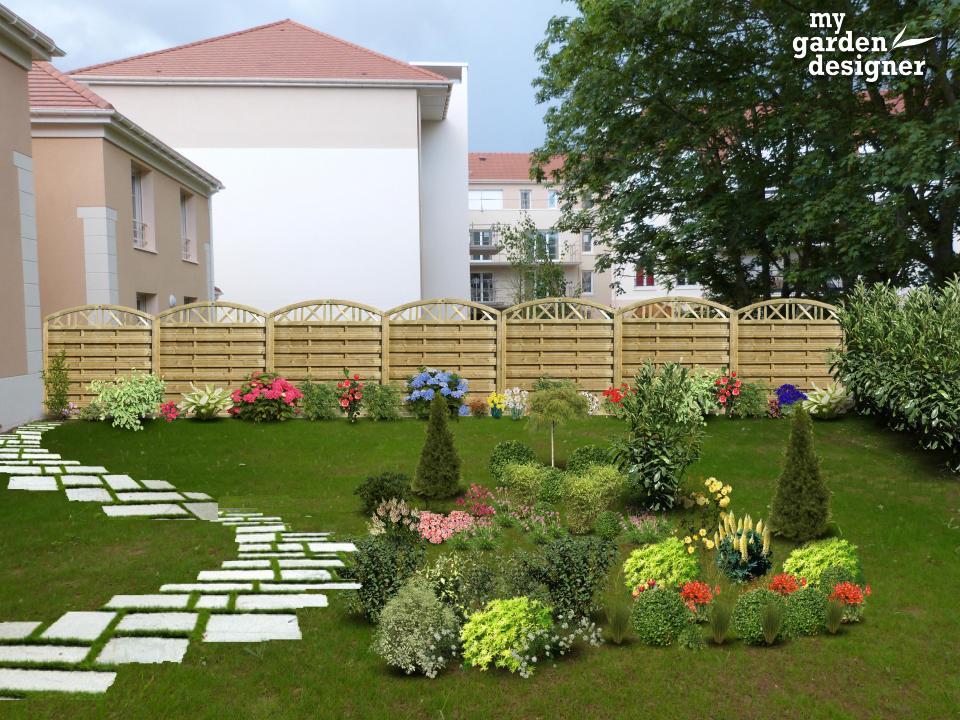 Aménager un jardin mitoyen de style anglais   monjardin-materrasse.com