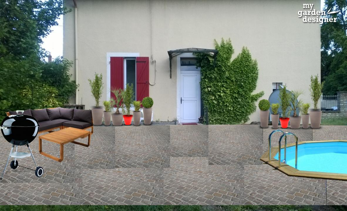 Très Aménager une cour de maison | monjardin-materrasse.com PC51