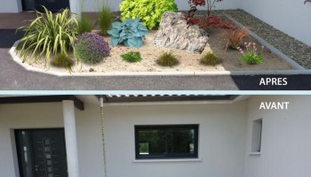 Best entree de jardin moderne images for Massif entree maison