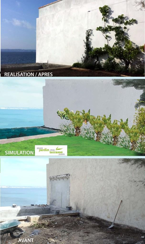 Couvrir mur grimpantes resistantes embruns bord de mer