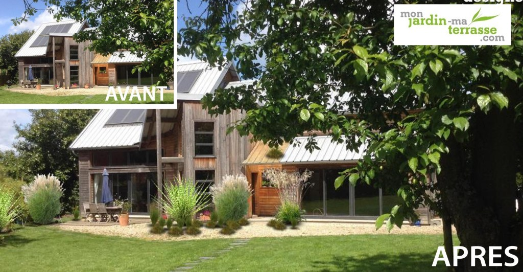 Jardin contemporain monjardin for Amenagement jardin avec graminees