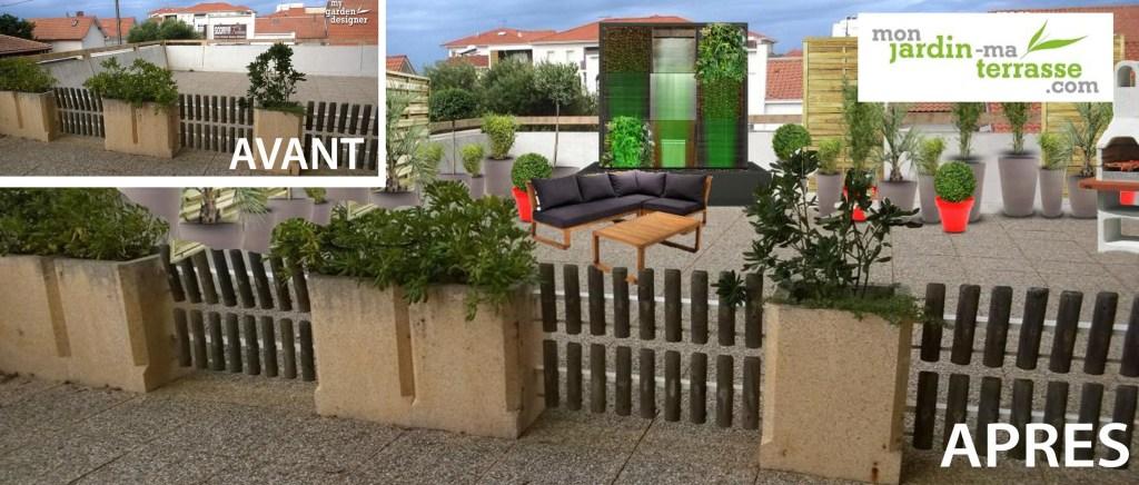 am nagement terrasse monjardin. Black Bedroom Furniture Sets. Home Design Ideas