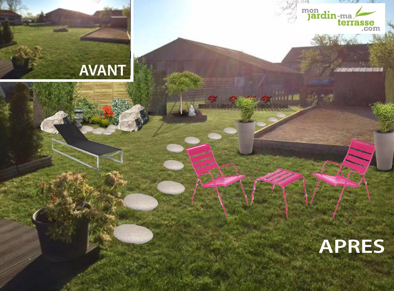 am nager un jardin d inspiration zen monjardin. Black Bedroom Furniture Sets. Home Design Ideas