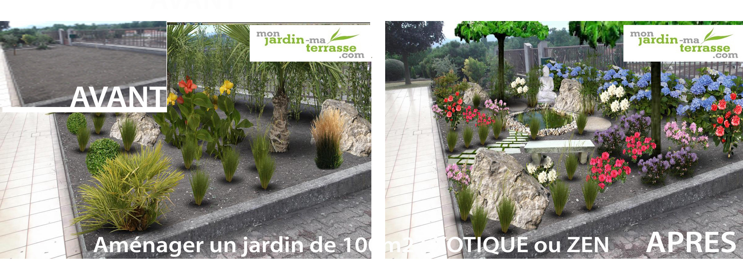 Am nager un jardin de 100m2 monjardin for Amenagement jardin 100m2
