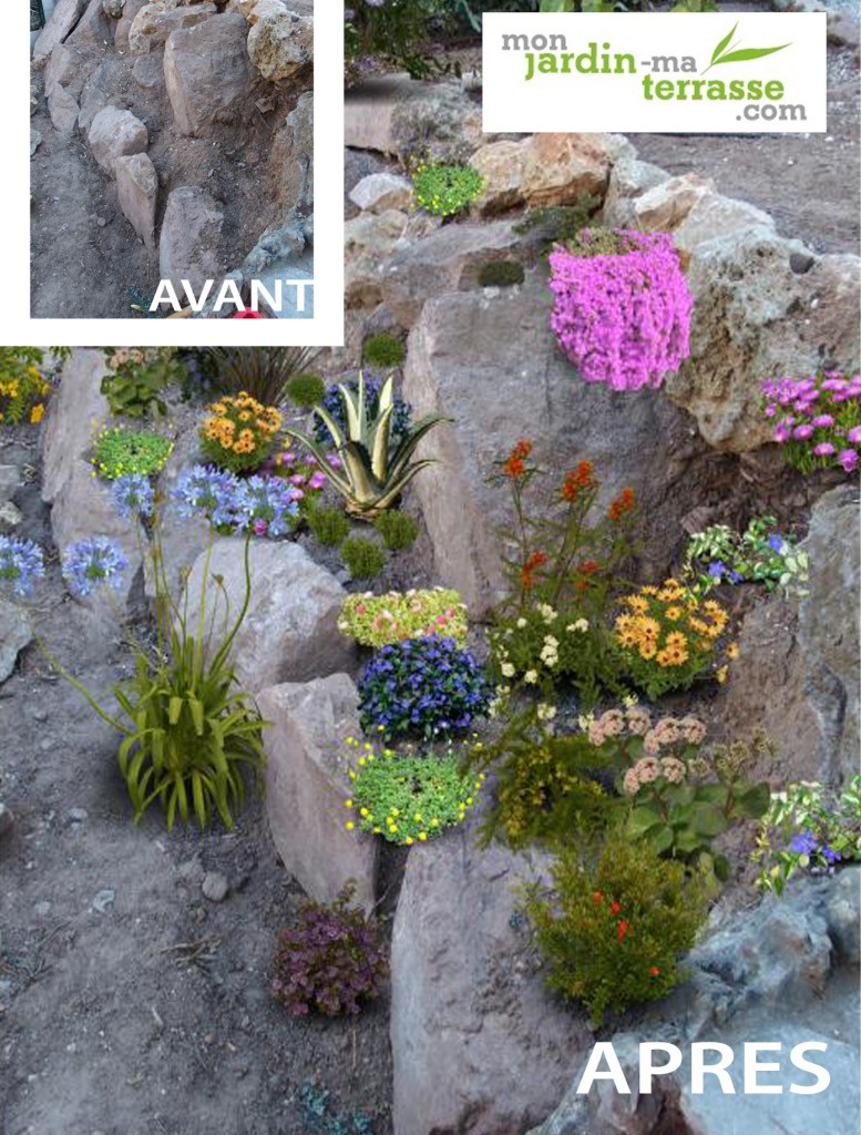 Terrain en pente monjardin for Amenager son jardin avec des plantes