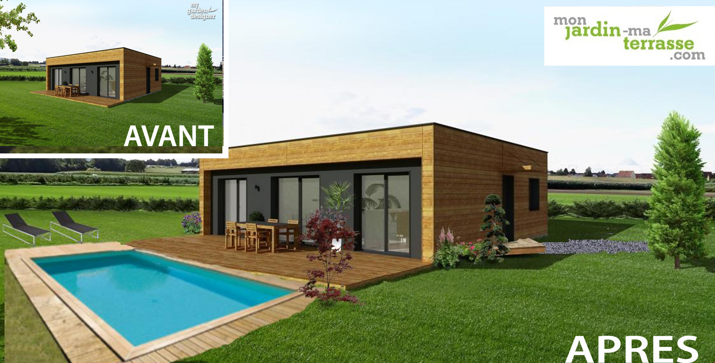Am nagement ext rieur d une piscine monjardin - Amenagement exterieur piscine ...
