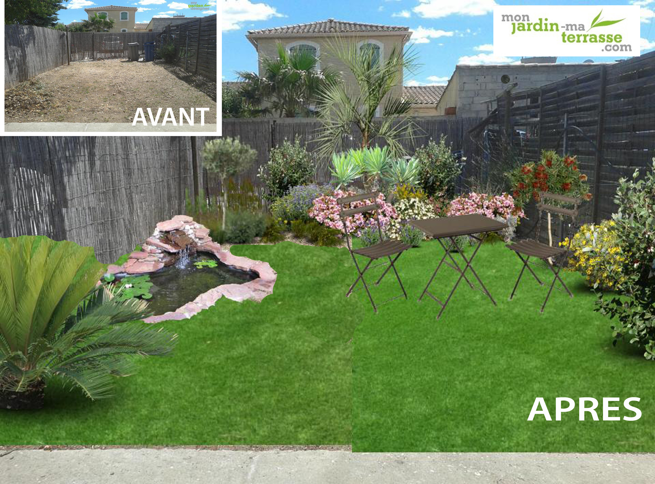 Id e d am nagement d un petit jardin monjardin for Amenagement terrasse de jardin