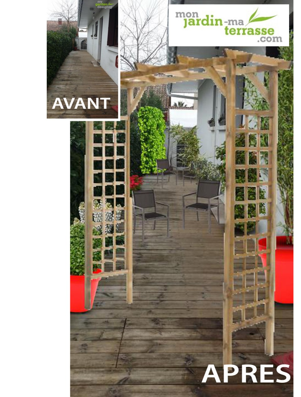 Comment am nager une terrasse de jardin monjardin for Amenager une terrasse jardin