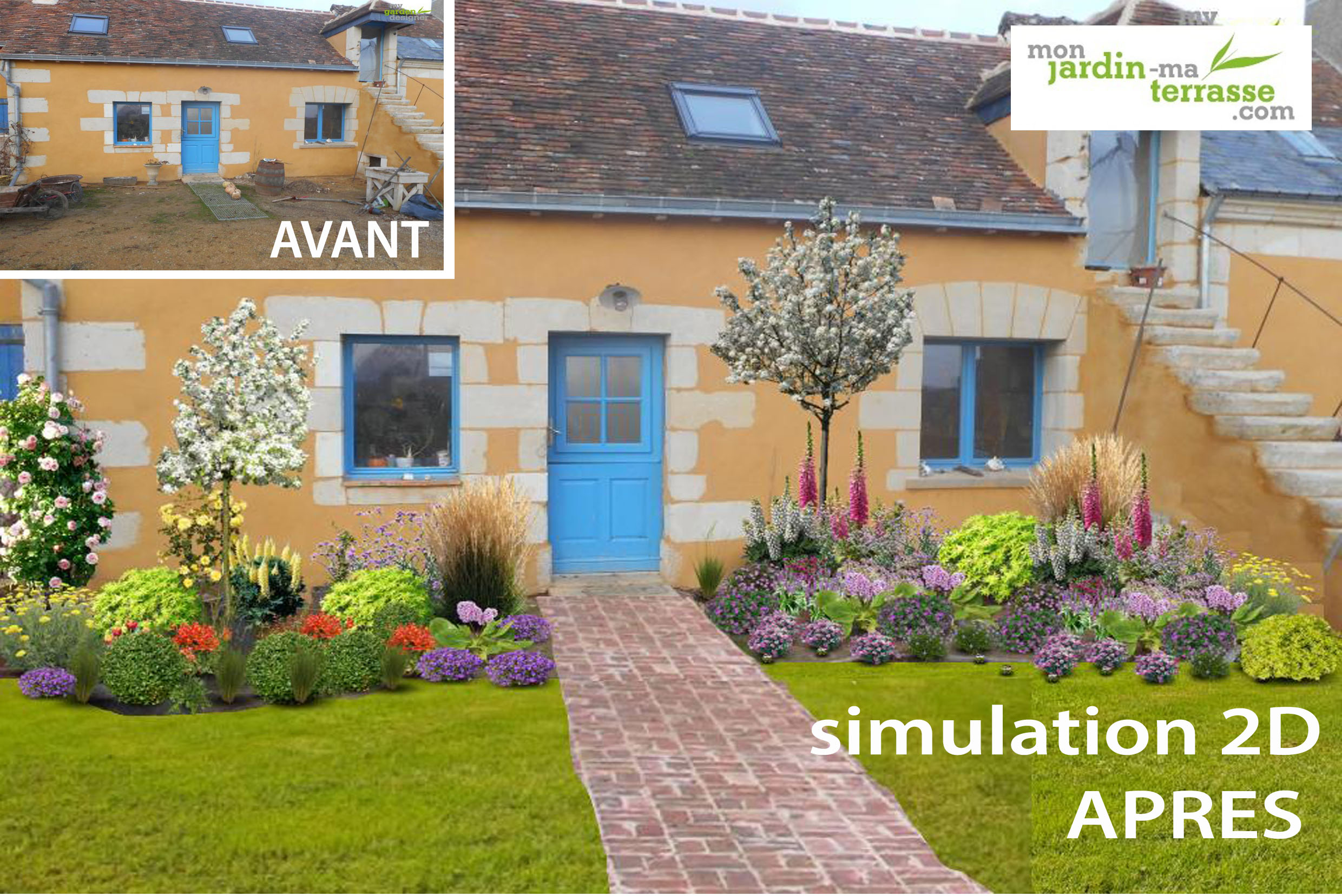 Am nager un jardin style cottage anglais monjardin for Amenager un jardin