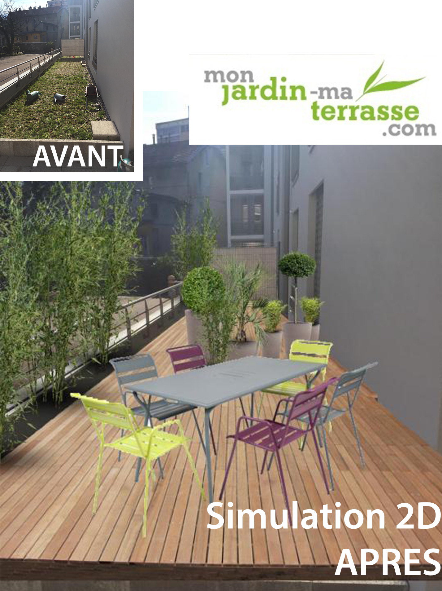 Am nagement du toit terrasse d un appartement monjardin for Amenagement de terrasse