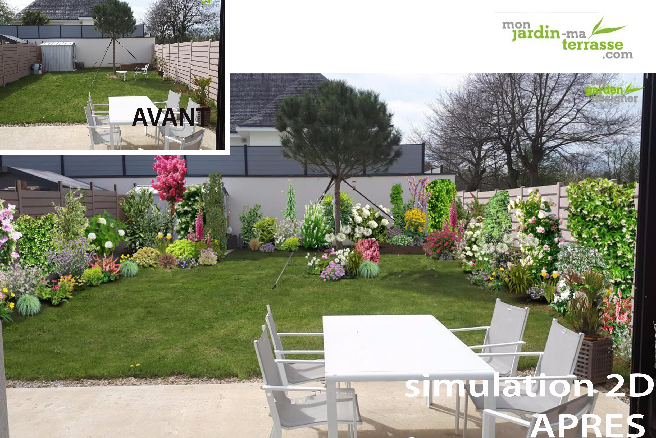 Comment am nager un petit jardin rectangulaire monjardin for Exemple amenagement jardin exterieur