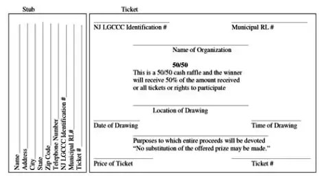 Procedures for Obtaining Licenses for Raffles, Bingos, and Games of - raffle ticket prizes