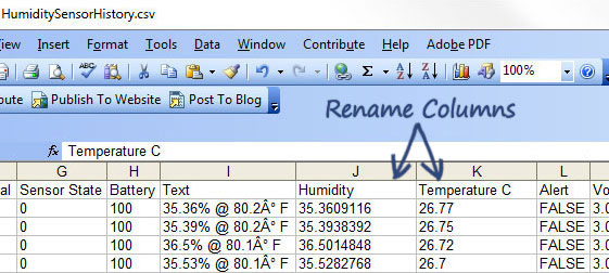 Monnit Knowledge Base Exporting Humidity Sensor Data to Excel with