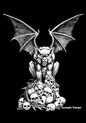 Black And White Wallpaper Designs Gothic Stickers Vampires Gargoyles And Skulls
