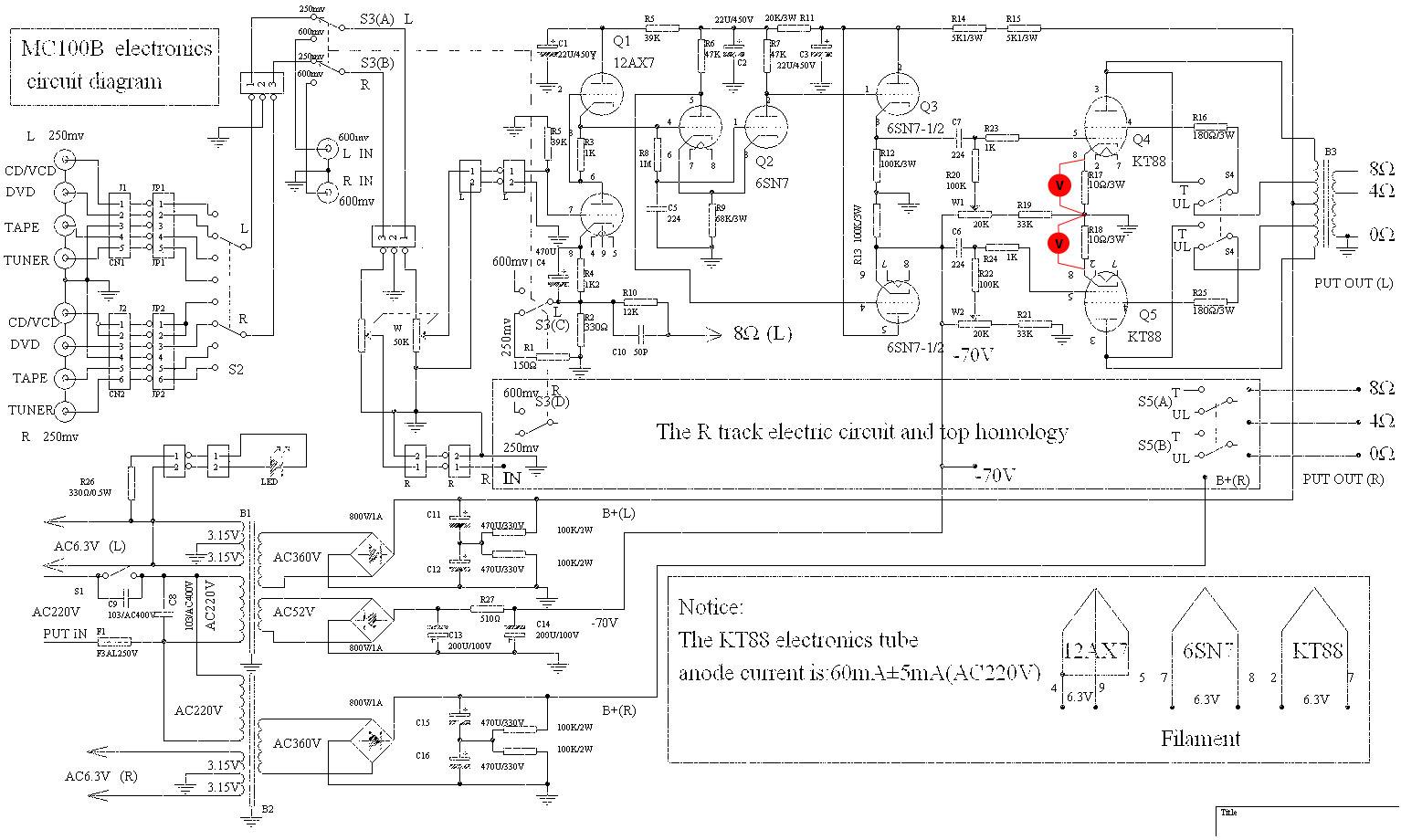 yaqin mc100b circuit diagram