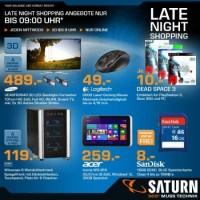 Saturn Late-Night-Shopping Deals KW47 - z.B. Samsung ...