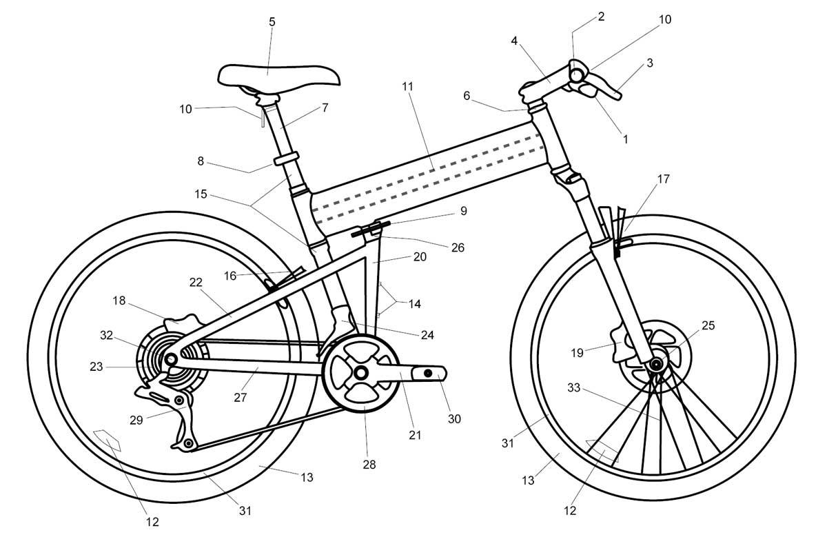 parts of mountain bike diagram