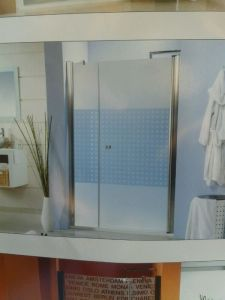 mampara baño sin aluminio central