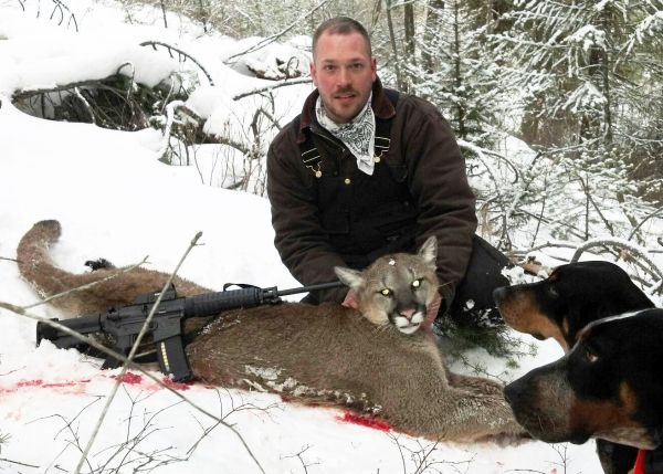 Montana Hunter's First Mountain Lion Taken with AR-15 Sporting Rifle and Six Year-Old Hunting Buddy