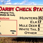 Opening Day of Montana Rifle Season Game Check Update – Darby Check Station