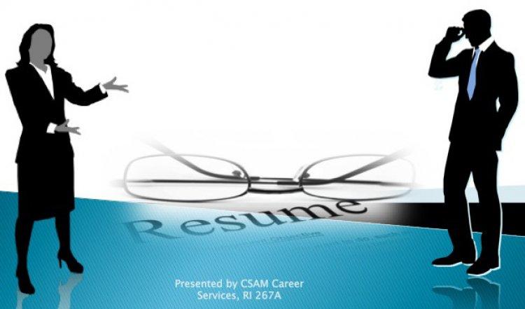 Resume Writing Workshop for CSAM Majors - University Calendar