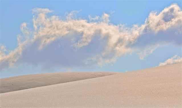 Le dune di neve di Passo Brasa