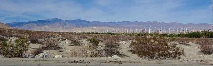 parco eolico Palms Springs - California - di Claudio Leoni