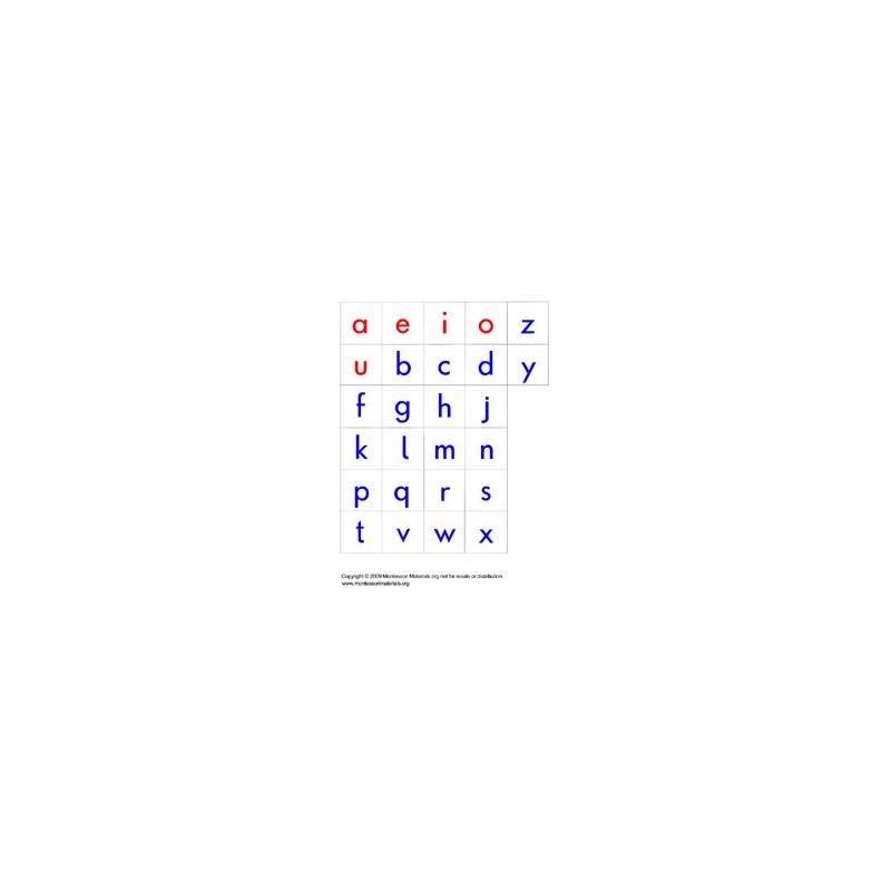 Moveable Alphabet Letters - PDF File - Montesssori Materials