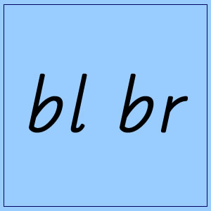 bl and br :: Blue Box 4 - Pictures and words