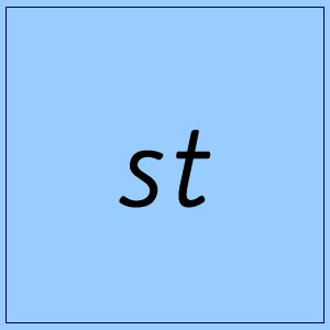 st (end):: Blue Box 4 - Pictures and Words
