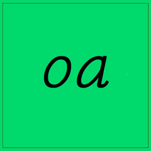 oa sound with letters