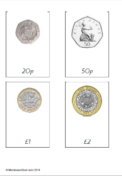 British Coins Cards - New Pound coin