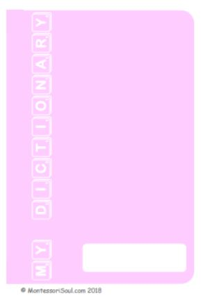 Personal Dictionay - light pink