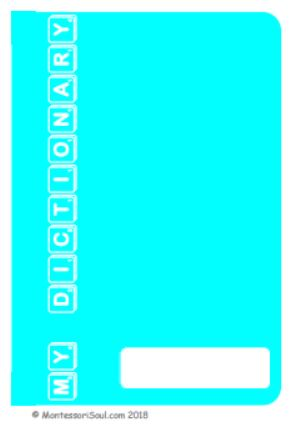 Personal Dictionary - Turquoise