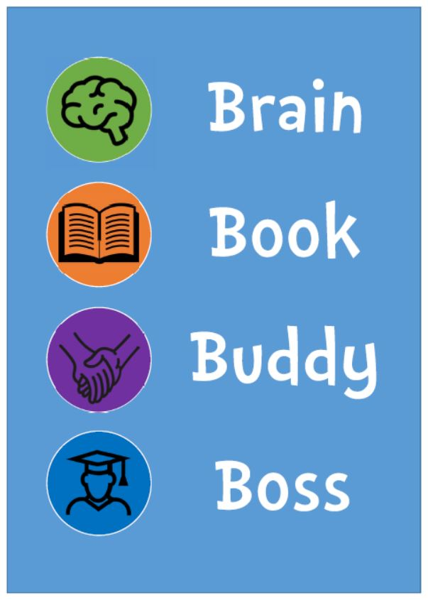 Brain Book Buddy Boss Poster