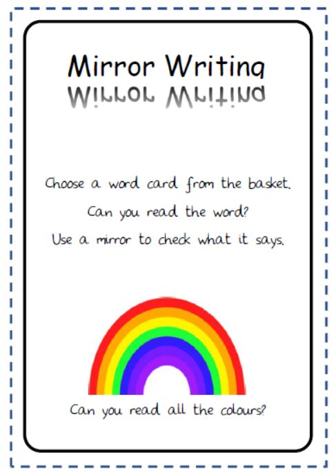 Mirror image High Frequency Words
